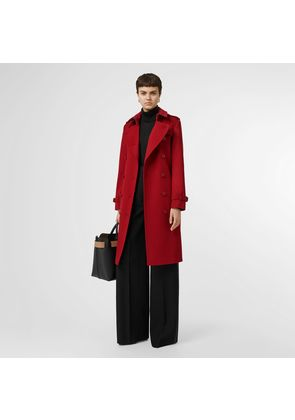 Burberry Cashmere Trench Coat, Red