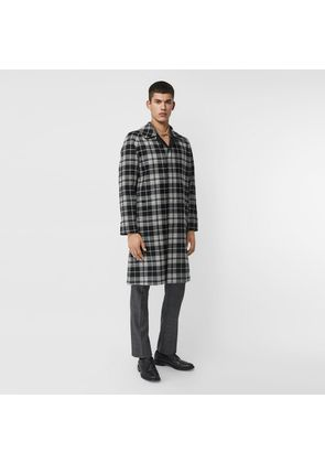 Burberry Reversible Wool Cashmere and Cotton Car Coat, Black