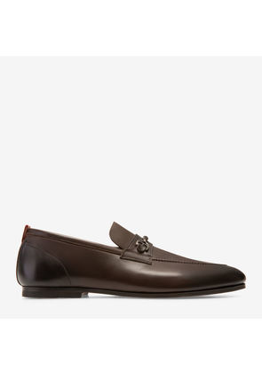 Bally Plintor Brown, Men's calf leather loafer in coffee