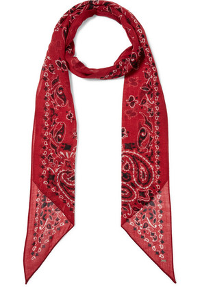 Saint Laurent - Paisley-print Wool Scarf - Red