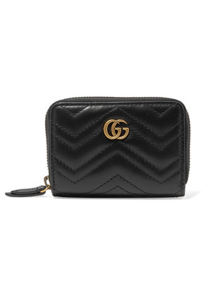 Gucci - Gg Marmont Quilted Leather Wallet - Black