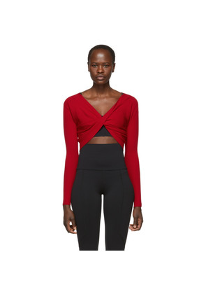 Live the Process Red Knit Cross Body Sweater