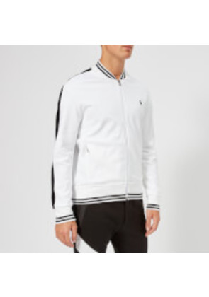 Polo Ralph Lauren Men's Bomber Collar Track Top - Pure White - L - White