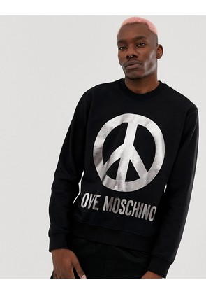 Love Moschino Sweatshirt With Peace Logo