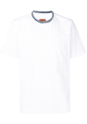 Missoni contrast-collar short sleeve T-shirt - White