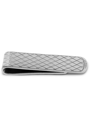 Bottega Veneta - Year Of The Pig Sterling Silver And Enamel Intrecciato Money Clip - Silver
