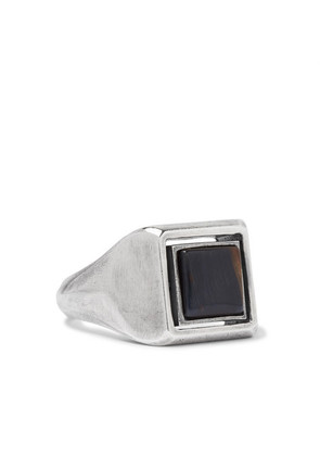 M.Cohen - Spinning Sterling Silver Tiger's Eye Ring - Silver