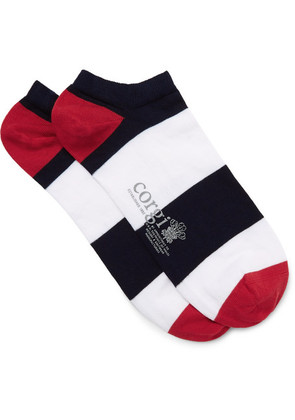 Corgi - Striped Cotton-blend Socks - Multi