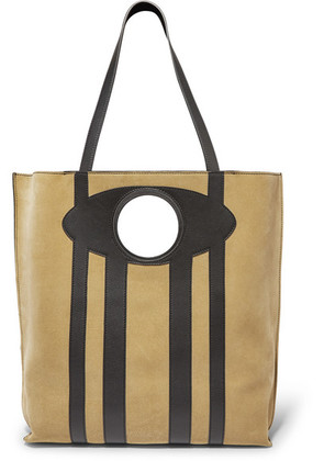 Loewe - Chair Large Suede And Leather Tote - Sand