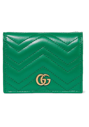 Gucci - Gg Marmont Small Quilted Leather Wallet - Emerald