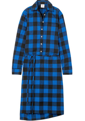 Vetements - Checked Flannel Shirt Dress - Blue