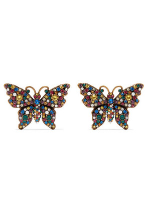 Gucci - Gold-tone Crystal Earrings - one size
