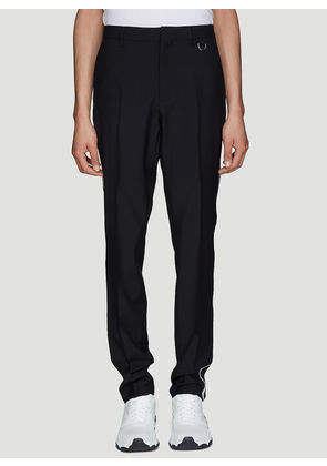Valentino Slim Stripe Pants in Black size IT - 46