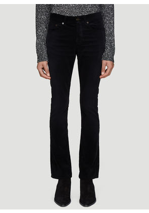 Saint Laurent Corduroy Boot-Cut Jeans in Black size 29