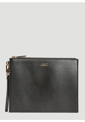 Gucci Leather Logo Pouch in Black size One Size