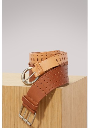 Perforated double belt