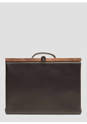 Eatable Of Many Orders Structured Briefcase Bag in Black size One Size