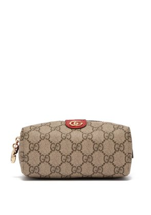 Gucci - Ophidia Gg Supreme Canvas Make Up Bag - Womens - Red Multi
