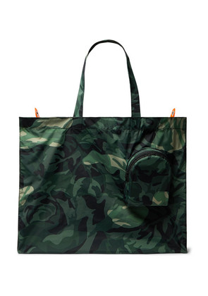 Alexander McQueen - Camouflage-print Shell Tote Bag - Green
