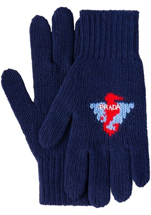 Prada Wool and cashmere gloves - Blue