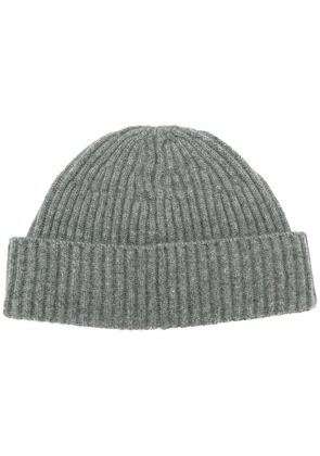 Brunello Cucinelli ribbed cashmere beanie - Grey