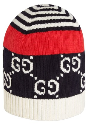 Gucci Cotton hat with GG motif - Blue