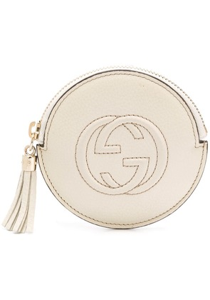 Gucci GG logo coin purse - Neutrals