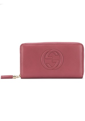 Gucci embroidered GG logo wallet - Pink