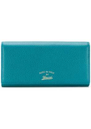 Gucci snap fastening logo wallet - Green