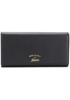 Gucci pebble leather snap wallet - Black