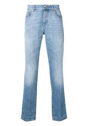 Brunello Cucinelli faded washed jeans - Blue