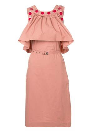Bottega Veneta beaded trim midi dress - Pink