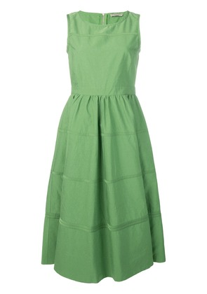 Bottega Veneta sleeveless flared midi dress - Green