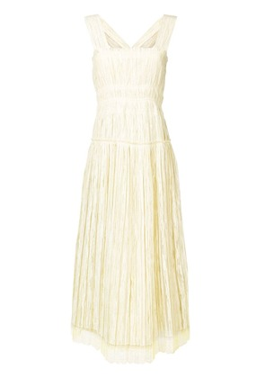 Bottega Veneta crepe midi dress - Yellow