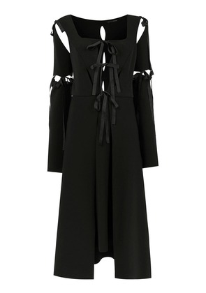 Gloria Coelho midi panelled dress - Black