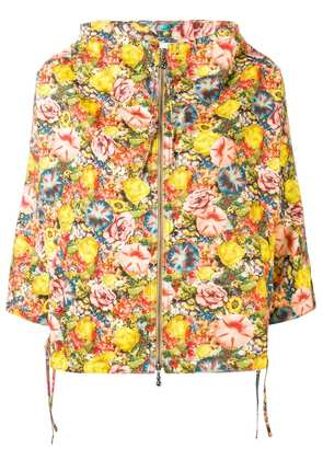 Marni floral hooded jacket - Yellow
