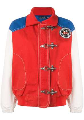 Polo Ralph Lauren colour block bomber jacket - Red