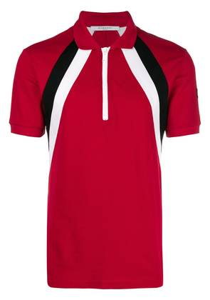 Givenchy zip up polo shirt - Red
