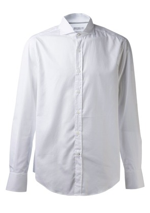 Brunello Cucinelli slim spread collar shirt - White