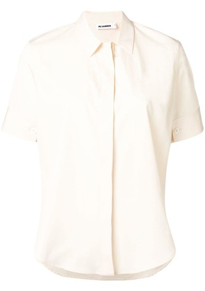 Jil Sander shortsleeved poplin shirt - Neutrals
