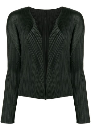 Pleats Please By Issey Miyake open front cardigan - Black