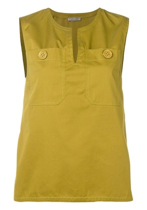 Bottega Veneta v-neck sleeveless top - Green