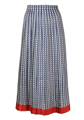 Valentino optical logo print skirt - Blue