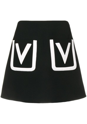 Valentino V pocket mini skirt - Black