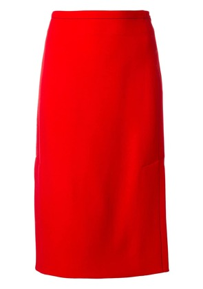 Marni A-line pencil skirt - Red