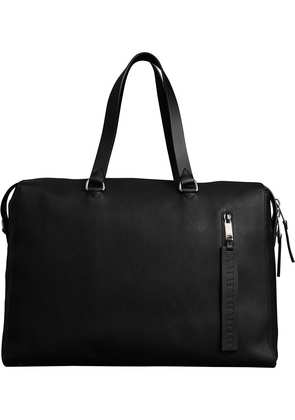 Burberry Embossed Grainy Leather Holdall - Black