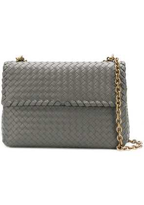 Bottega Veneta Intrecciato shoulder bag - Grey