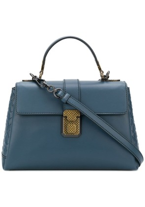 Bottega Veneta denim calf small piazza bag - Blue