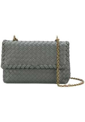 Bottega Veneta new light grey Intrecciato nappa baby Olimpia bag