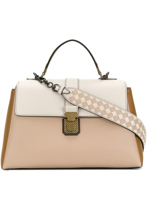 Bottega Veneta mink nappa medium piazza bag - Neutrals